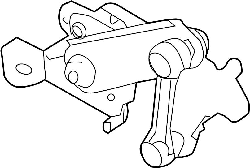 Mazda 3 Headlight Level Sensor (Front). Front. Mazda3