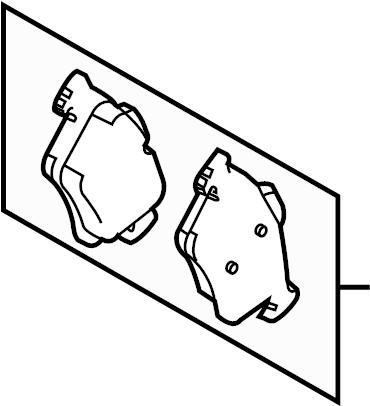 Mazda 3 Disc Brake Pad Set (Right, Rear). Pads, SUSPENSION