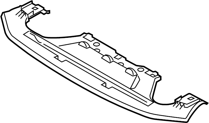 2014 Mazda 3 Bumper Cover Support Rail (Upper, Lower