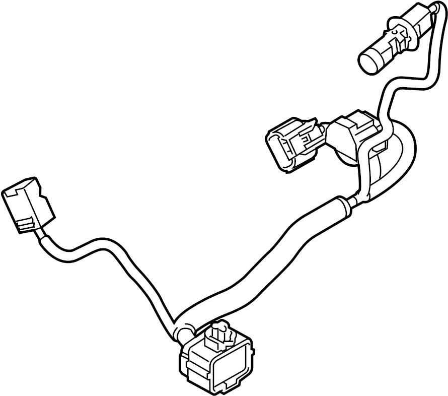 Mazda 3 Headlight Wiring Harness. 2014-16, HID, w/o