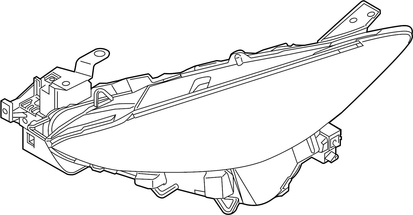 Mazda 3 Unit right (r), head lamp. 2017-18, halogen