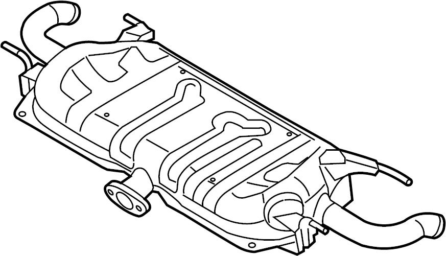 Mazda 3 Exhaust Muffler. Hatchback, LITER, Japan