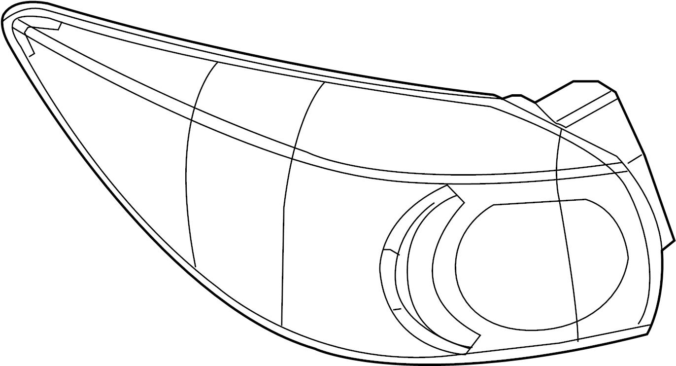 Mazda 3 Tail Light Assembly (Right, Rear). HATCHBACK, w