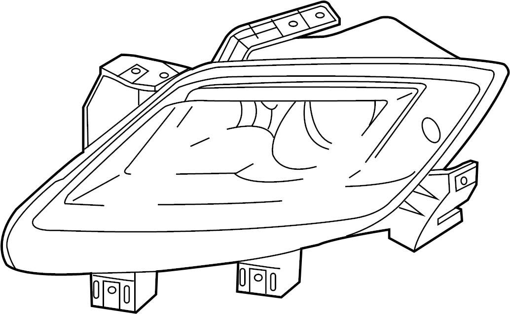 Mazda CX-9 Headlight. CX-9; w/o HID; Right. HALOGEN, 2010
