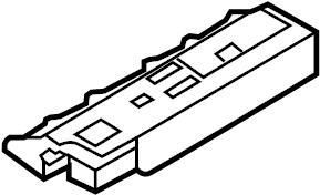 Mazda CX-9 Keyless Entry Antenna. W/SMART KEY, rear, floor