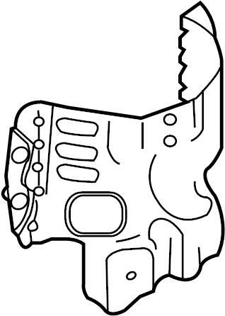 Mazda CX-9 Heat shield. PROTECTOR, CONVERTER. 3.7 LITER