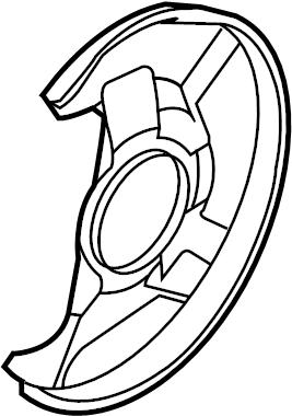 Mazda CX-7 Brake Dust Shield (Right). CX-7; Right. CX-9