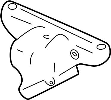 Mazda MIATA Exhaust Manifold Heat Shield (Upper). FEDERAL
