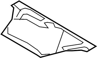 Mazda MX-5 Miata Radiator Support Splash Shield. Radiator