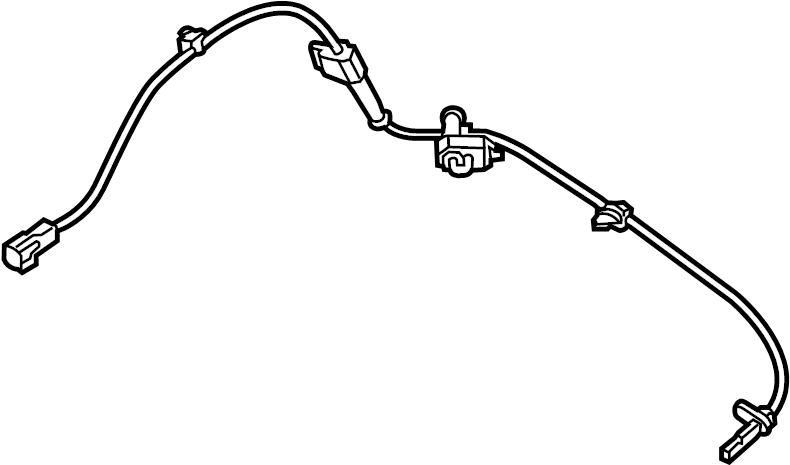 Mazda CX-5 Abs wheel speed sensor (front). Suspension