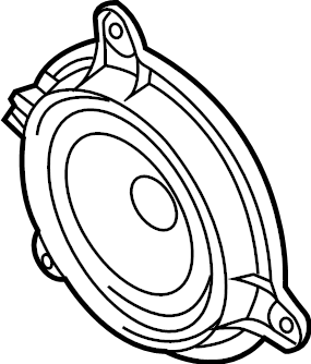 Mazda 3 Front dr speaker. Speaker. Front, Center. Audio