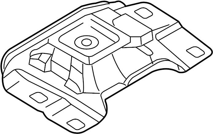 Mazda 3 Front mount. RUBBER NO. RUBBER NO.3, ENGINE.MTG