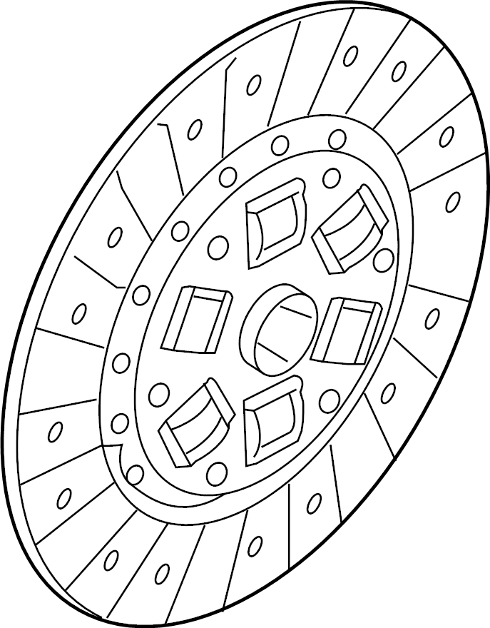 2014 Mazda Clutch Friction Disc. TRANS, LITER, MANUAL