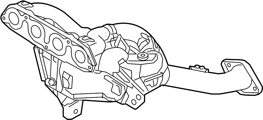 Mazda CX-5 Catalytic Converter with Integrated Exhaust