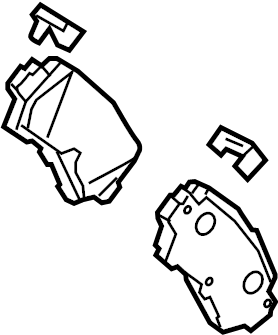 Mazda CX-5 Disc Brake Pad Set (Rear). SUSPENSION, Pads