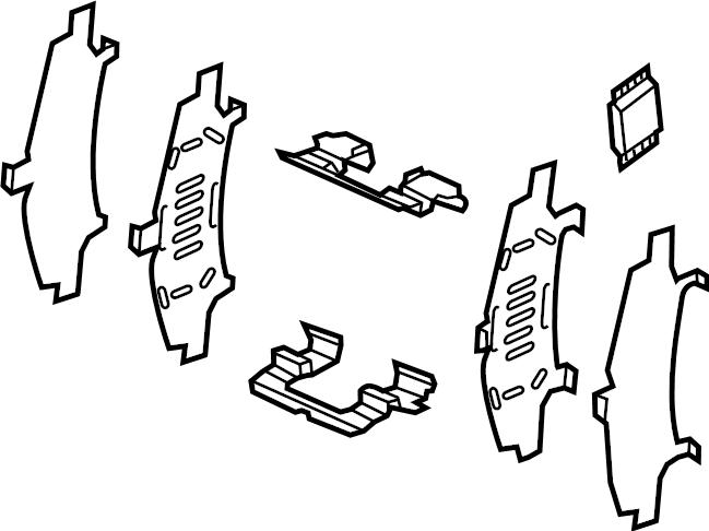 Mazda CX-9 Disc Brake Pad Set (Front). Pads, Caliper