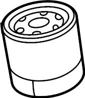 Mazda CX-9 Filter, oil. 2.5 liter turbo. Cx-9. Mazda6; w