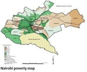 Nairobi Poverty Map small