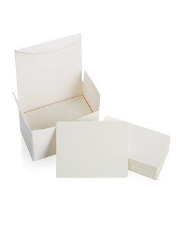 Blank White Cardboard paper Message Card Business Cards Word Card DIY Tag Gift Card 100 PCS (White)