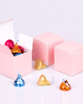 Pink Candy Boxes 2 x 2 x 2 Inch Small Mini Square Paper Boxes