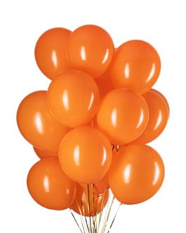 12 inch Orange Balloons Helium Balloons Quality Latex Balloons Party Decorations Supplies Pack of 100,3.2g/pcs