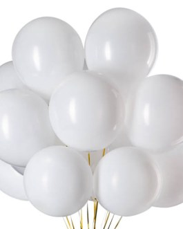 12 inch White Balloons Latex Balloons Helium Balloons Quality Balloons Party Decorations Supplies Pack of 100,3.2g/pcs