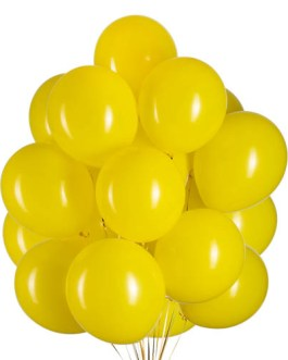 12 inch Yellow Balloons Helium Balloons Quality Yellow Latex Balloons Party Decorations Supplies Pack of 100,3.2g/pcs
