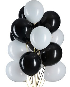 12 in Black and White Balloons Helium Balloons Quality Latex Balloons Party Decorations Supplies Pack of 100,3.2g/pcs