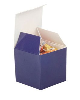 Navy blue Candy Boxes 2 x 2 x 2 Inch Small Mini Square Paper Boxes
