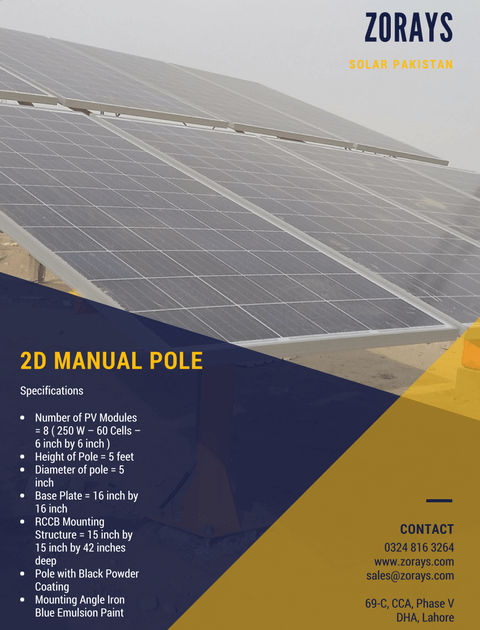 Zorays Solar Mechanical Poles Specifications