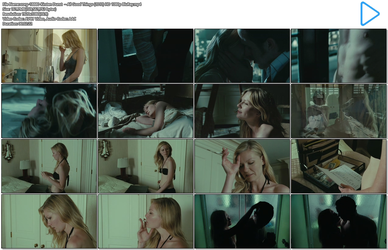 Kirsten Dunst naked in the shower and topless - All Good Things HD 1080p BluRay (7)