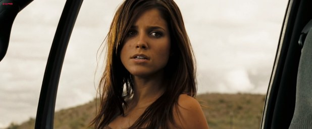 Sophia Bush very sexy and almost nude in the shower - The Hitcher (2007) HD1080p