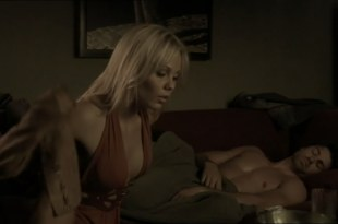 Laura Vandervoort hot cleavage – The Jazzman (2009)