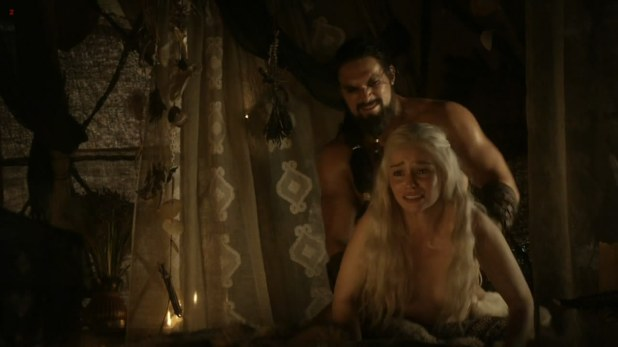 "Emilia Clarke nude and lesbian love game with Roxanne McKee ""Game of Thrones"" S1E2 hd1080p"