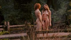 """Nicole Wilder full frontal naked walking with naked dude in the woods """"The Tripper"""" (2006) hd720p"""