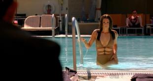 """Stana Katic sex and wet getting out of the pool """"Castle"""" s03e22 hdtv720p"""