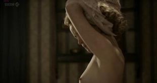 Claire Foy nude brief topless in - The Night Watch (2011) hd720p