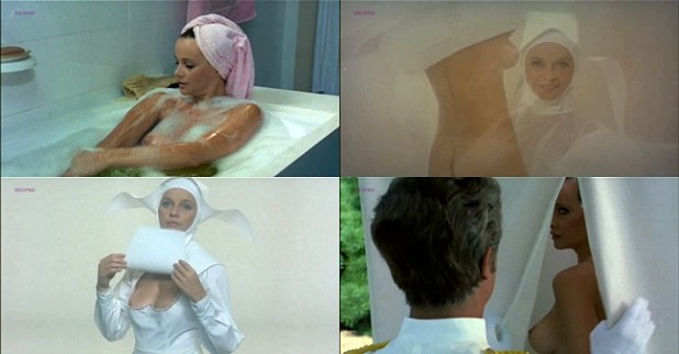 Laura Antonelli nude and hot as topless nun - Sessomatto (1973)