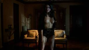 Jessica Marais naked seductive sex and great nude topless rack - Magic City s1e4 hd70p (10)