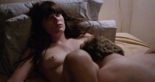 """Emma Greenwell nude topless on the bed receiving oral from a guy """"Shameless s3e3 hd 720p"""