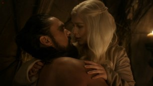 Emilia Clarke nude sex doggy style and lesbian love game with Roxanne McKee - Game of Thrones S1E2 hd1080p10