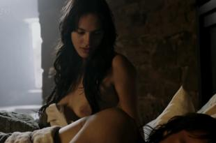 Jessica Brown Findlay full nude topless and butt and Katie McGrath sex and full nude Labyrinth 1×1 (2013) hd720p