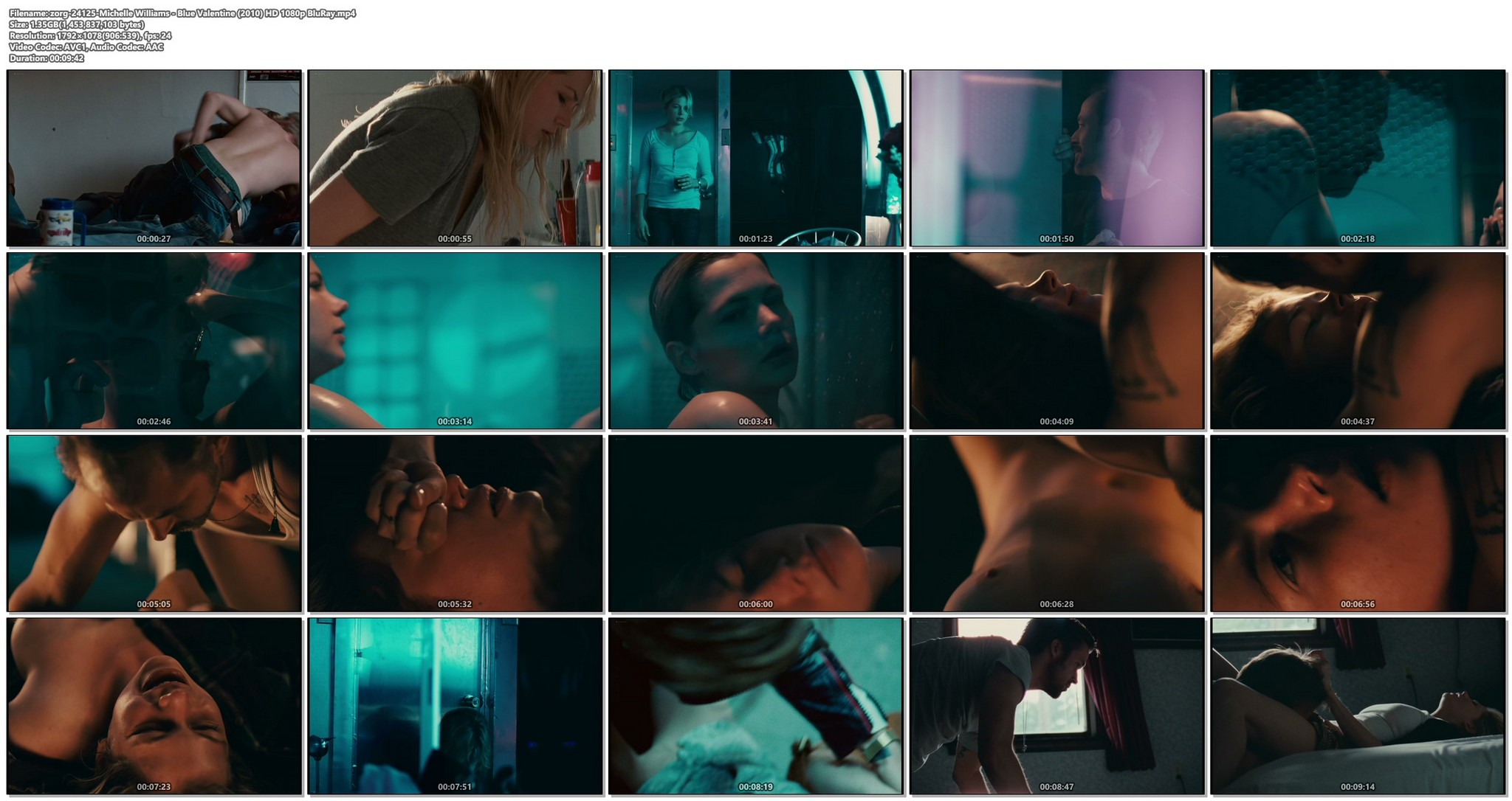 Michelle Williams nude topless and some hot sex - Blue Valentine HD 1080p BluRay REMUX (1)