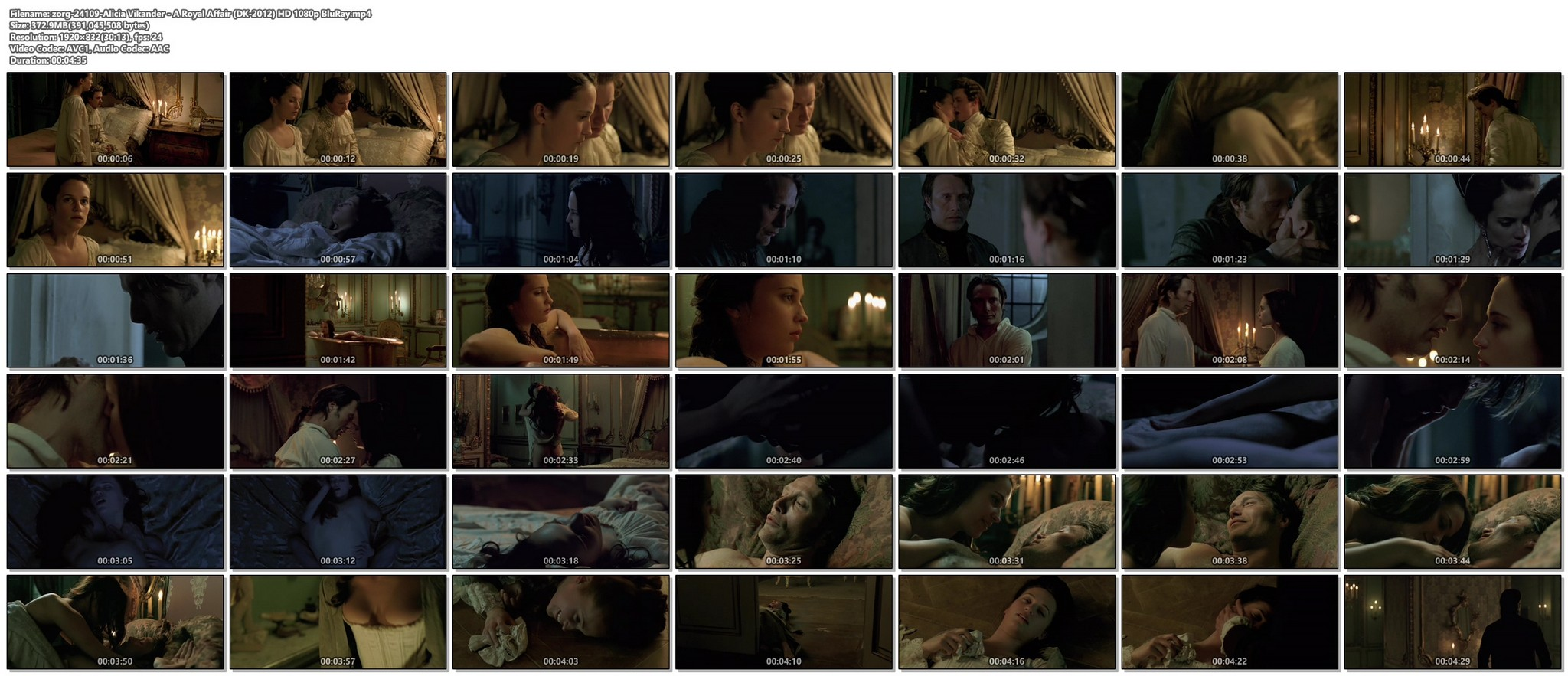 Alicia Vikander nude butt naked and sex - A Royal Affair (2012) HD 1080p BluRay (1)