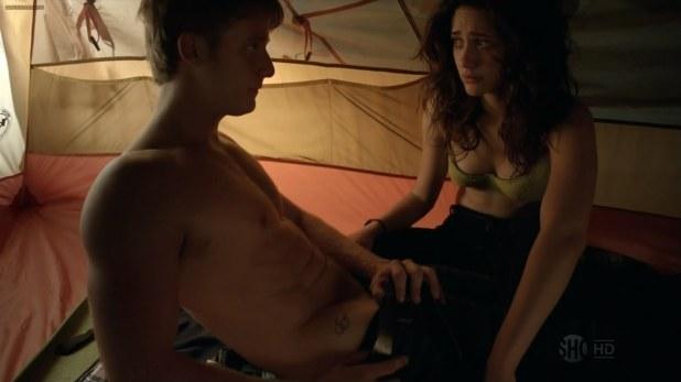 Emmy Rossum not nude sexy in bra Shameless (2013) hd720p
