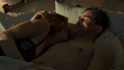Gretchen Mol not naked but cool see through in black lingerie - Boardwalk Empire s01e09 hdtv720p