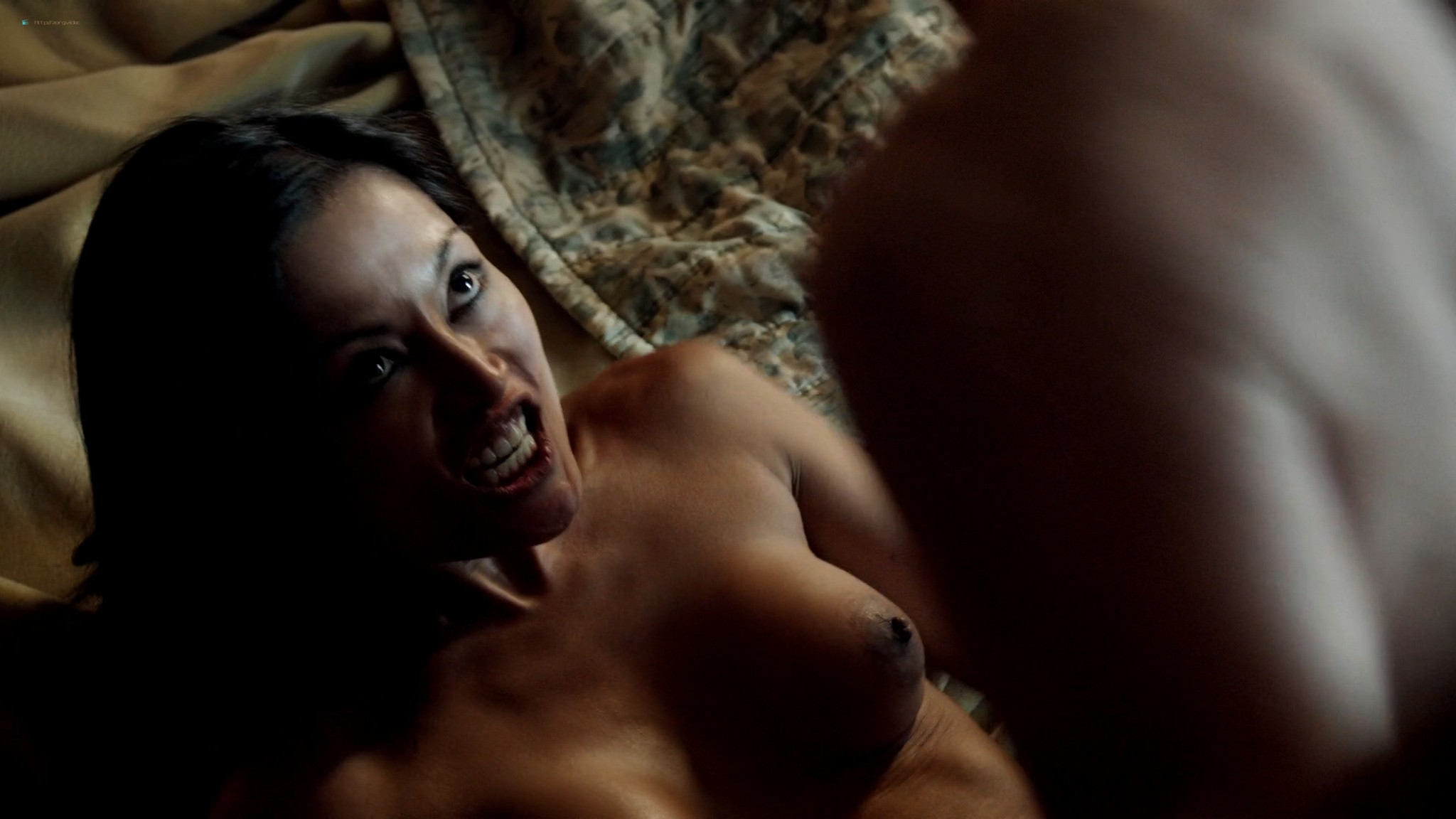 Kira Clavell nude full frontal Leah Gibson nude sex - Rogue (2013) s1e3 HD 1080p (10)