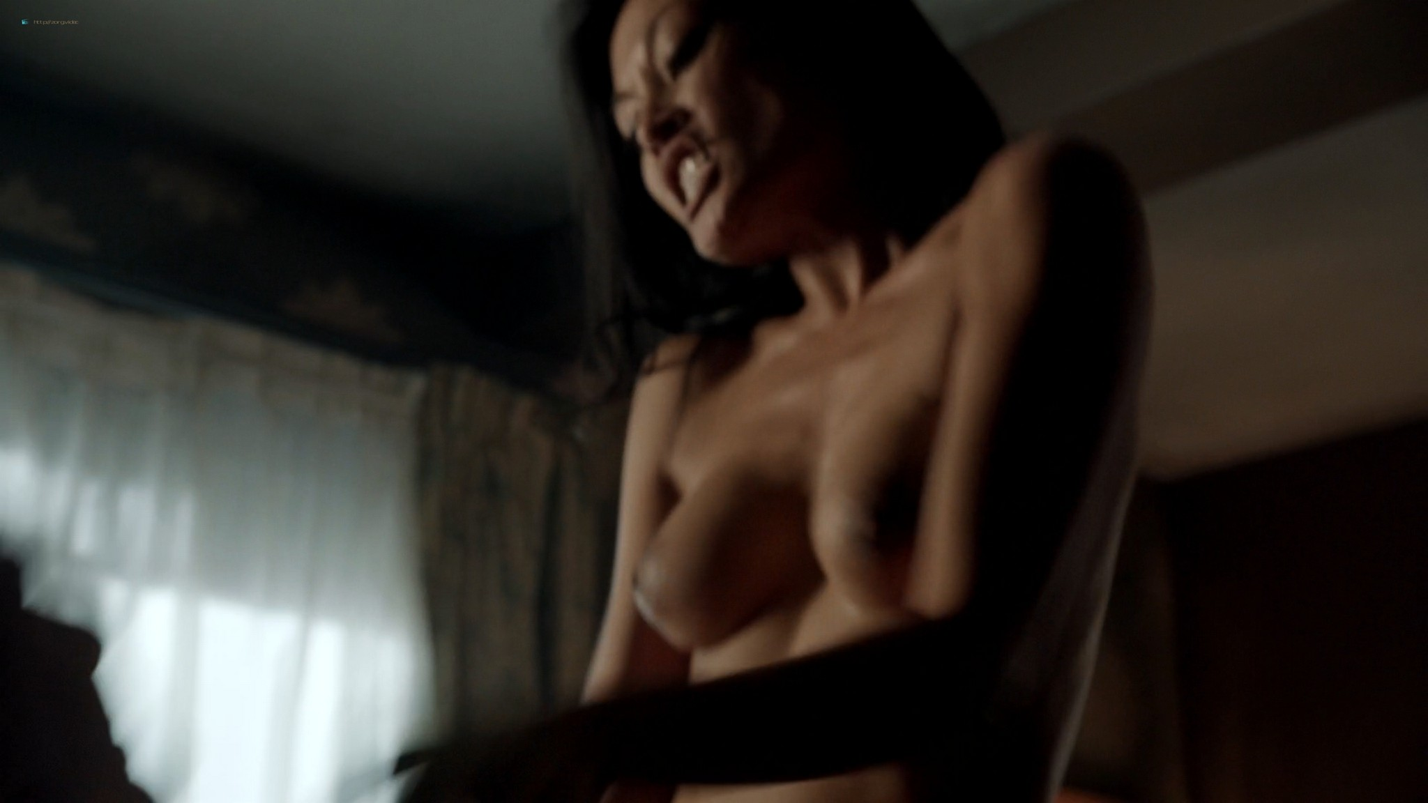 Kira Clavell nude full frontal Leah Gibson nude sex - Rogue (2013) s1e3 HD 1080p (9)