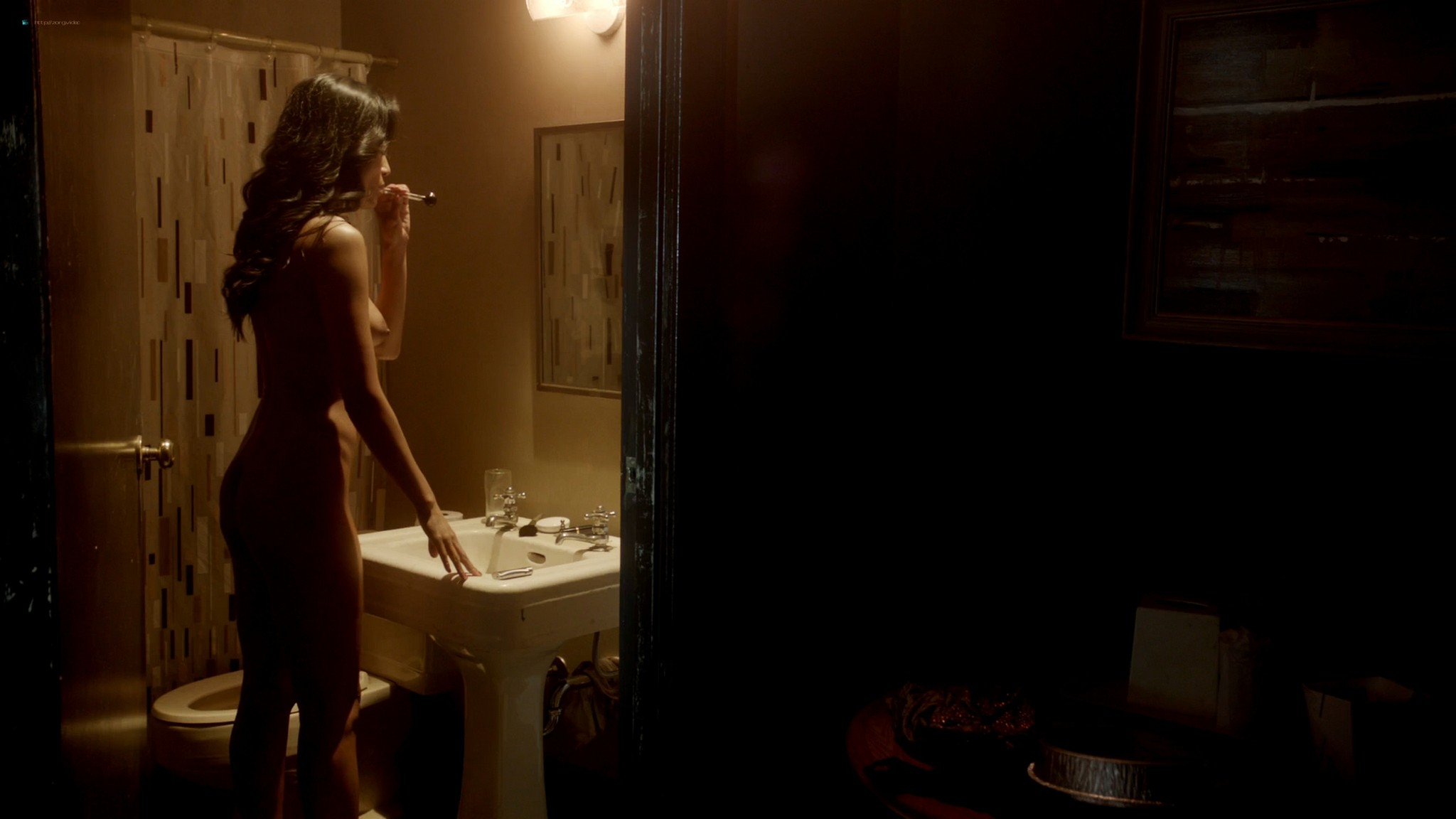 Kira Clavell nude full frontal Leah Gibson nude sex - Rogue (2013) s1e3 HD 1080p (5)