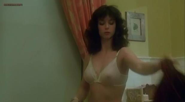 Rachel Ward nude in the shower and butt naked - Night School (1981)